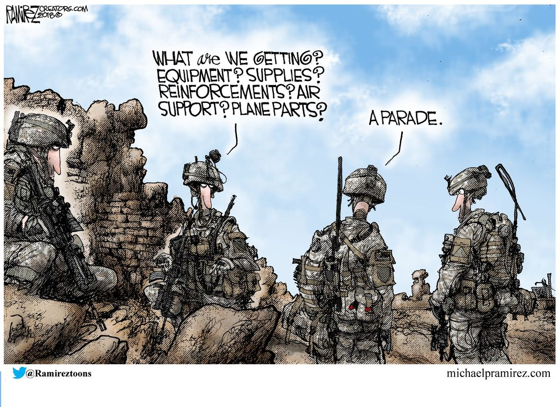 Trump S Parade For The Military Michael P Ramirez