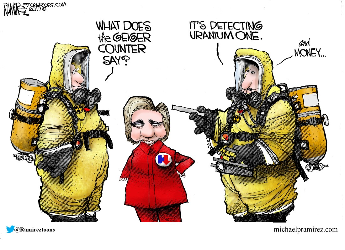 Image result for Hillary and Uranium One cartoon