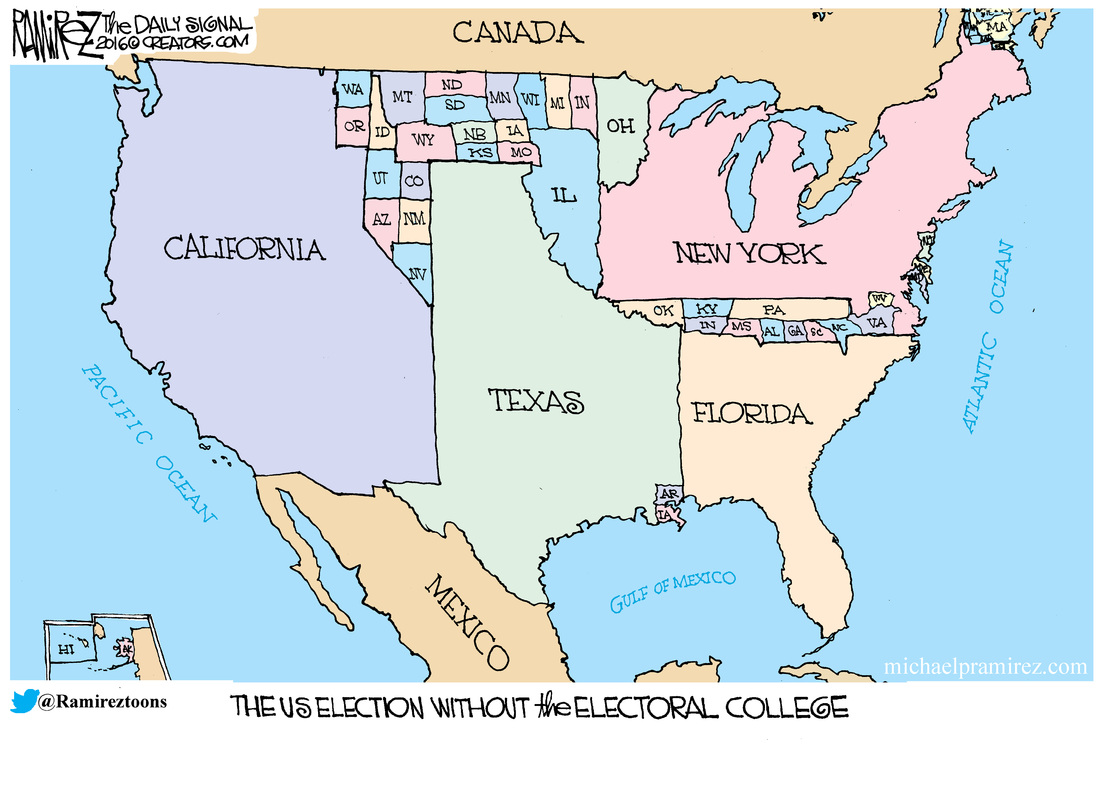 Without The Electoral College MICHAEL P RAMIREZ - Map Of Us Without Electoral College 2016